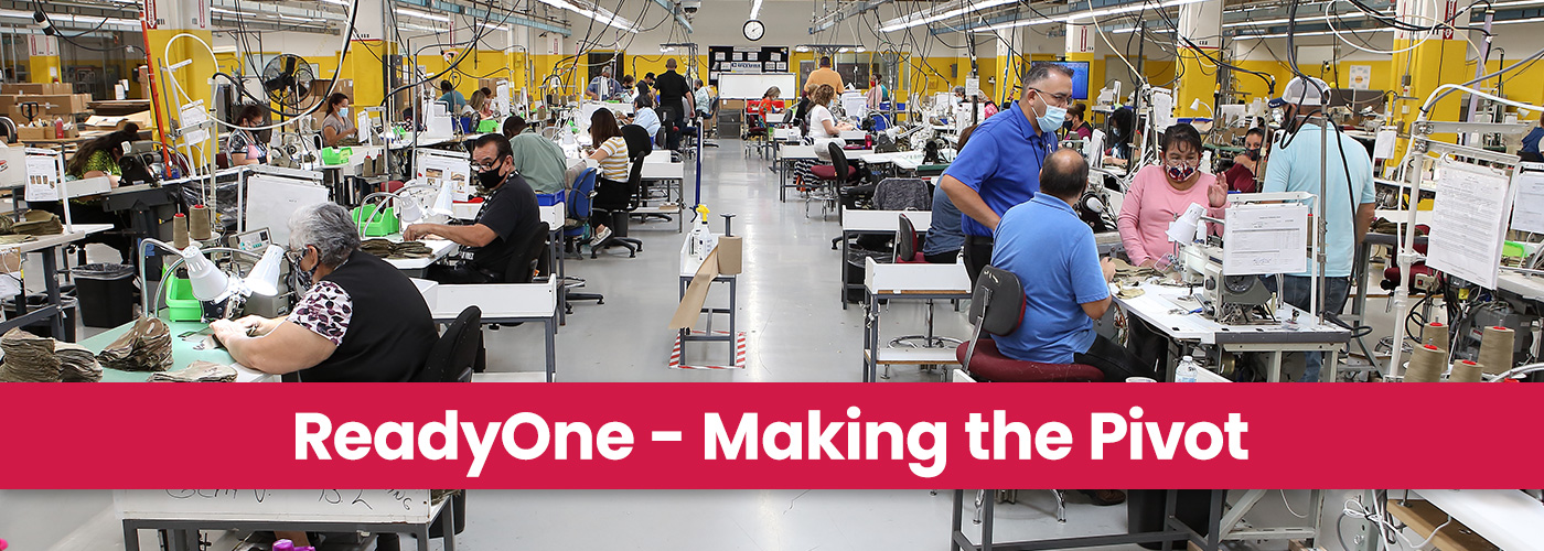 Professionals with disabilities are making personal protective equipment on the factory floor at ReadyOne.
