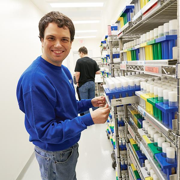 Employee Working in Packaging Services